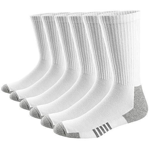 Ueither Herren Damen Atmungsaktive Sportsocken Premium Baumwolle Cushion-Crew Socken 6er Pack