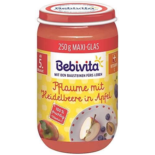 Bebivita Früchte Pflaume mit Heidelbeere in Apfel, 250 g