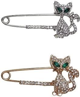 Daorier 1/× Femme Bijoux Broche Epingle en Forme de Chat Mignon de Cristal de No/ël Corsage Brooch de D/écoration V/êtement Broches Accessoires Noir