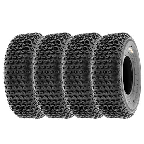 "SunF 19x7-8 19x7x8 Tubeless 2 PR 19"" ATV UTV Tires A012 [Set of 4]"
