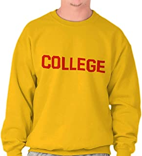 b43c0a0e Brisco Brands College University School Spirit Funny Crewneck Sweatshirt