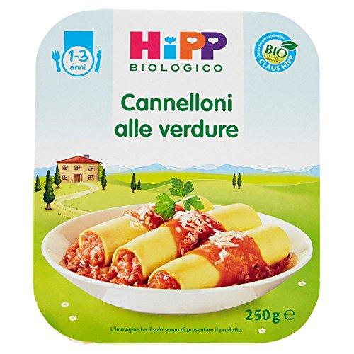 HiPP - Piatto Pronto Bio, Cannelloni alle verdure, 6 Confezioni da 250 g