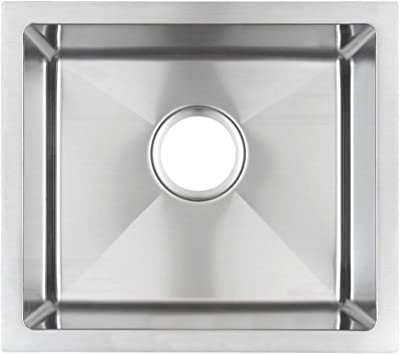 Starstar Kitchen/Yard/Bar/Laundry/Office Stainless Steel 10mm Radius Corners Sink, 17 Inch (With Grid)