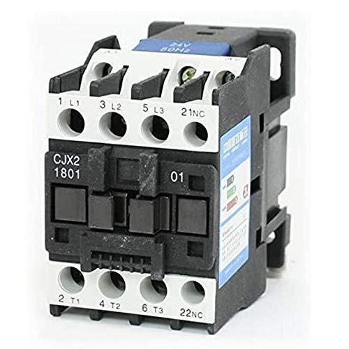 ETial CJX2-1801 AC Distribución eléctrica Contactor eléctrico 24V 50Hz Bobina 18A Trifásica 3 polos 1NC