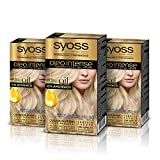 Syoss Oleo Intense - Coloración Permanente Tono 10-50 Rubio Claro Ceniza (Pack De 3) 50 ml