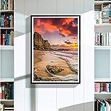 QianLei Gemälde Eye of Insight Landschaft Stickbilder Pasten Leinwandbild-30x45 cm Ungerahmt