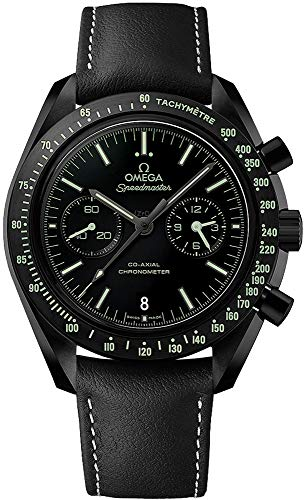 """Omega Speedmaster Moonwatch Co-Axial Chronograph """"Dark Side of the Moon Pitch Black"""" Men's Watch 311.92.44.51.01.004"""