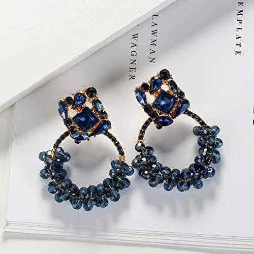 Pendientes De Mujer,Shiny Geometric Hanging Pendientes Coloridos Cristales Joyería Fina Accesorios Regalos para Novia Encanto Moda Gota Colgante Pendientes Joyería para Mujeres Damas