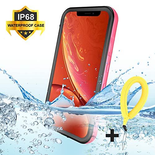 BDIG Funda iPhone XR Impermeable, [Anti-rasguños][Protección de 360 Grados],Case Protectora con Protector de Pantalla Incorporado para iPhone XR Case 6.1 Inch 2019 (FOR XR 6.1', Rosado)
