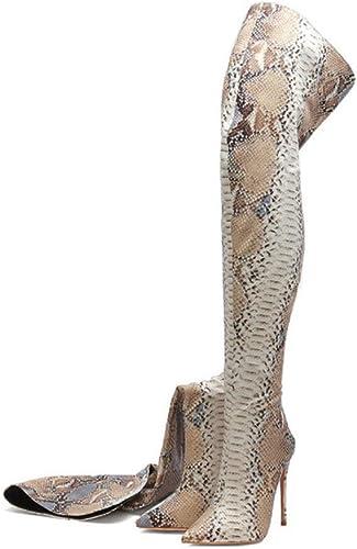 Hysxm Abricot Femmes sur Le Genou Bottes bottes à Talons Talons Hauts Femme Cuisse Bottes élevées Mode Sexy Chaussures Sexy  livraison gratuite et échanges.