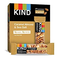 Contains 12 - 1.4oz KIND Bars One of our best-selling bars, packed with nutritionally dense nuts and topped with salted caramel. With 5g of sugar, it's a satisfying, nutty snack that only seems indulgent. Gluten free, No Genetically Modified Ingredie...