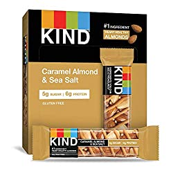 KIND Bars, Caramel Almond & Sea Salt, Gluten Free, Low Sugar