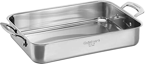 CUISINART 95119-135 Forever Collection Multi-Use Roasting Pan, 13.5 Inch, Stainless Steel