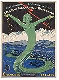 Grenoble 1925 Poster, Kunstdruck, Format 50 x 70 cm,