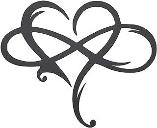 TaoHaoHuo Décoration murale en acier en forme de cœur infini - Décoration murale en métal - Décoration à suspendre pour la...