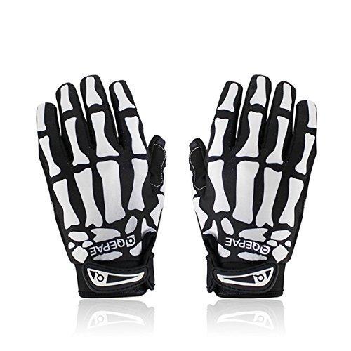iParaAiluRy - Radsport-Handschuhe für Jungen in schwarz/weiß, Größe L