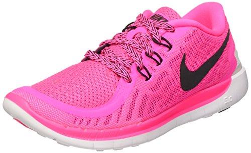 Nike Nike Unisex-Kinder Free 5.0 (gs) Laufschuhe, Pink (Pink Pow/Black-Vivid Pink-Wht 600), 38.5 EU