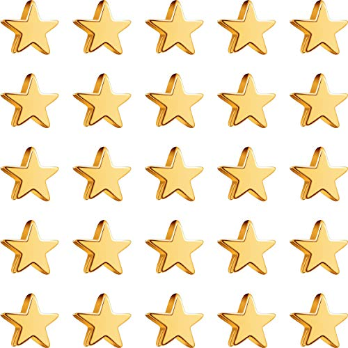 100 Pieces Star Beads Spacer Charms Golden Star-Shape Golden Spacer Charm Loose Beads for DIY Jewelry Crafts Making