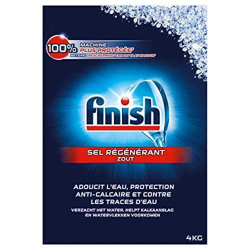 FINISH Lot de 6 Sels Régénérant Lave-Vaisselle - 4 kg