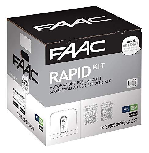 Faac Rapid Kit, Automazione Elettromeccanica 24V Cancelli Scorrevoli, Peso Max Anta 400 Kg, Motoriduttore C720-C721 1059995