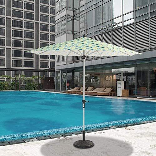 2021 New Housewares Sombrilla para el sol Sombrillas de jardín Sombrilla de playa premium para patio y piscina, sombrilla para mesa de jardín al aire libre con 8 varillas resistentes y poste d
