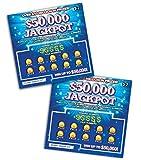 FMPLT- Fake Joke Lottery Tickets Scratch Off - All Win $50,000 - The Ultimate Prank (Multi-Pack C)