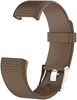SODIAL Smart Wrist Band Parts for Charge 2 Strap for Fit Bit Charge2 Flex Wristband Brown