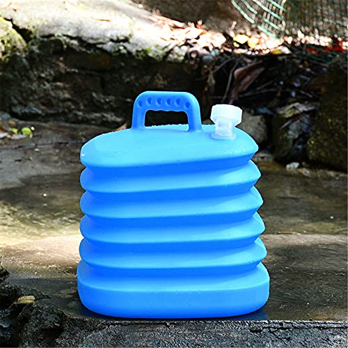 Upupto Collapsible Bucket Portable Folding Bucket Lid Silicone Car Washing Bucket Children Outdoor Fishing Travel Home Storage,A