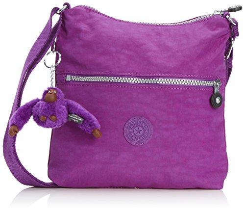 Kipling Damen ALEXANE Schultertaschen, Mehrfarbig (Purple Dahlia), 26x25x4 cm