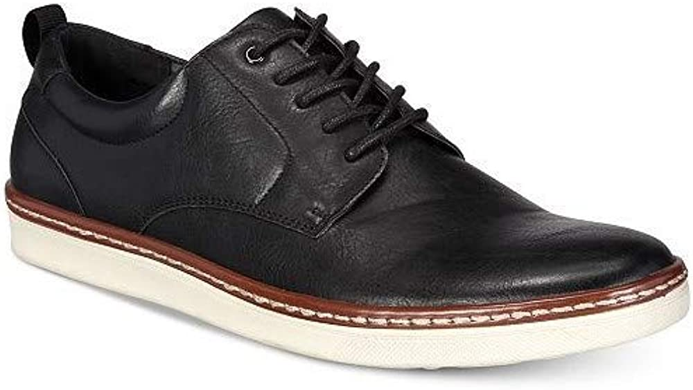 Alfani Mens BILLYBK Leather Lace Up Casual Oxfords
