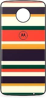 Moto Snap Motorola Style Shell, Capa Traseira para Moto Z e Moto Z2, Retro Stripe