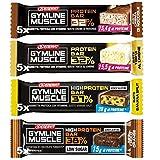 enervit Gymline Protein Bar Variety Pack ● 20 Barrette Monostrato Proteiche ● Gusti Crema Nocciole + Torta Limone + Banana Split + Cioccolato con Cuore d'Arancia