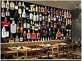 3D mural stéréo cave à vin bouteille de vin bar table outillage fond mur (W)400x(H)280cm