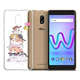 LJSM Funda Wiko Jerry 3 Carcasa Flexible Ultra Slim Transparente Crystal Clear Soft Silicona TPU Suave Caso Case Shell Cover para Wiko Jerry 3 (5.45') -XY15