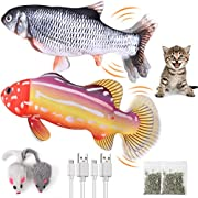 Covertsafe 2Pack Catnip Toys, Fish Cat Toys for Indoor Cats Interactive Moving Flippity Fish Cat Toy Fit Puppy - Cats Nip Kitten and Small Dog Toys