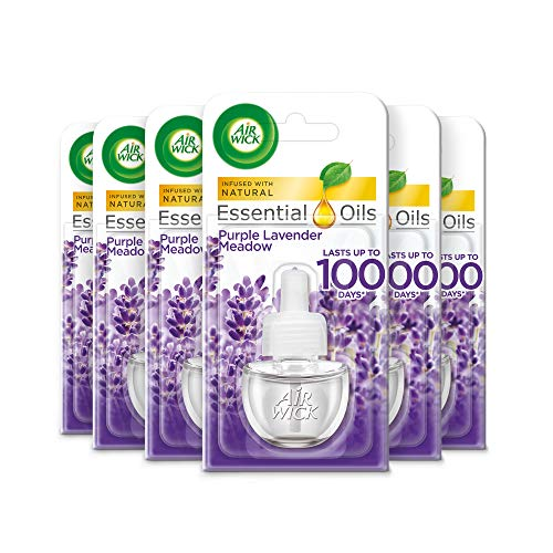 Air Wick Electrical Plug In Air Freshener Refill Lavender 17ml, Pack of 6...