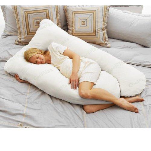 Coolmax Pregnancy Pillow - White