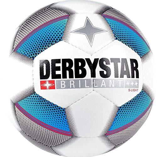 Derbystar Fussball FB-Brillant S-Light DB Weiss/Silber/blau 5