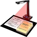 ZHBD Libro Image Document Scanner, 18 Mega Pixel HD Cámara De Documentos, Grabación De Video De Proyección En Tiempo Real, Escáner Portátil USB con 10 LED LED, 3 Niveles De Atenuación De Nivel