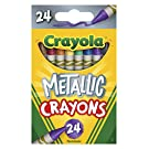 "Crayola Metallic Crayons, 24Count, Multi, 4.5"" x 2.8"" x 1.1"" (528815)"