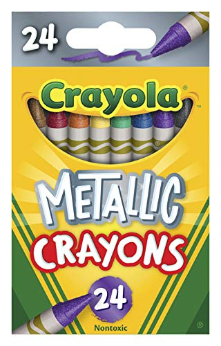 Crayola Metallic Crayons, 24Count, Multi, 4.5' x 2.8' x 1.1' (528815)