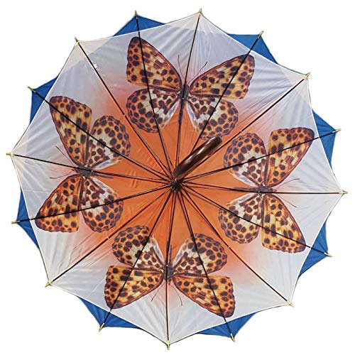 Sunsino Regenschirm doppelt bespannt hell blau mit Motiv