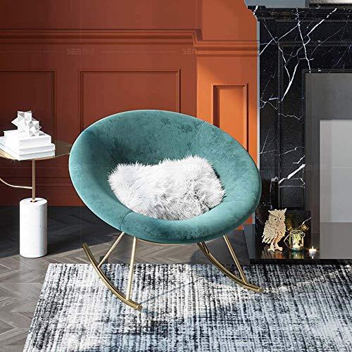 ZWWZ Silla de Mecedora Ligera nórdica Sofá Sofa Sole Creativa Velvet FÁCIL Silla SIGENIO Sofa PEQUEÑO Sofa MISU