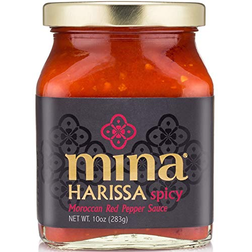 Mina Harissa Hot Sauce - Moroccan Spicy Chili Pepper Sauce - 10ounce