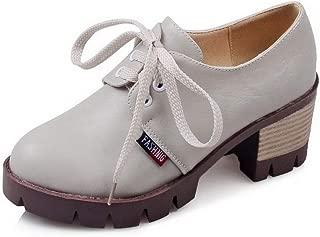 BalaMasa Womens APL12396 Pu Block Heels