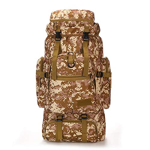 Military Tactical Backpack 80 Liters Lightweight Backpack 3 Days Outdoor Assault Waterproof Backpack Multifunctional Unisex E