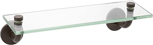 Allied Brass RM 1 16 ORB Remi Collection 16 Inch Glass Vanity Shelf With Beveled Edges Oil Rubbed Bronze