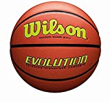 Wilson Evolution Game Basketball, Yellow, Official Size - 29.5'