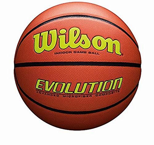 Wilson Evolution Game Basketball, Gelb, offizielle Größe – 74,9 cm
