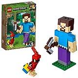 LEGO Minecraft Bigfigurine Steve et son perroquet Jeu de construction, 7 Ans et Plus, 159 Pices 21148